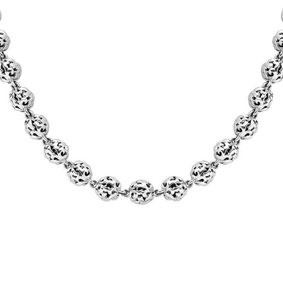 Silver Ivy Bead Classic Necklace