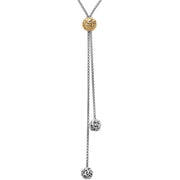 Silver Ivy Bead Lariat Necklace