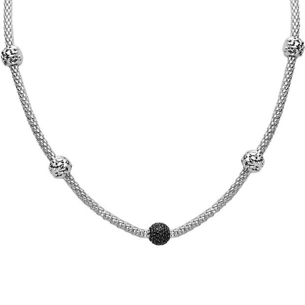 Silver Ivy 5-Bead String Necklace
