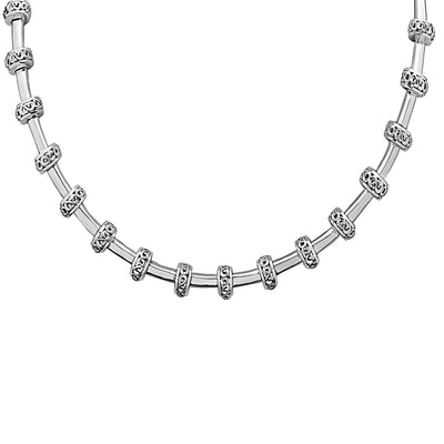 Silver Ivy Petite Rondel Tube Necklace