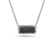 SILVER IVY BAR NECKLACE