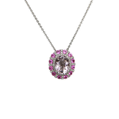 Pastel Diamond Sunburst Necklace