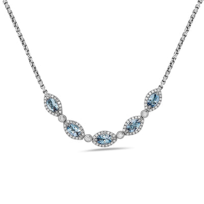 Diamond Firefly Marquise Necklace