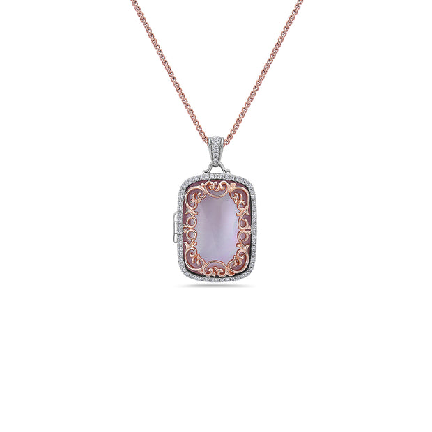 Diamond Locket Pendant Necklace