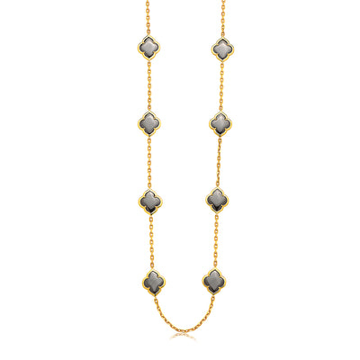 Gold Collection Les Fleurs 16-Motif Long Necklace