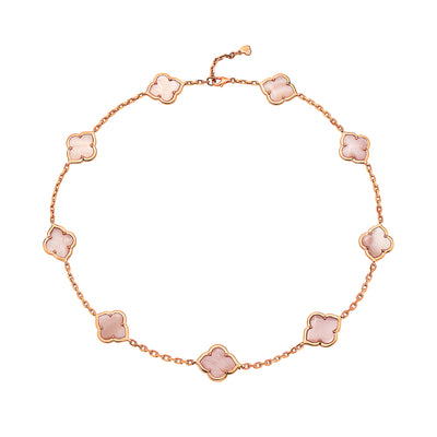 Gold Collection Les Fleurs 9-Motif Necklace