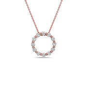 Diamond Circle Pendant Necklace