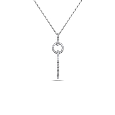 Diamond Circular Spear Necklace