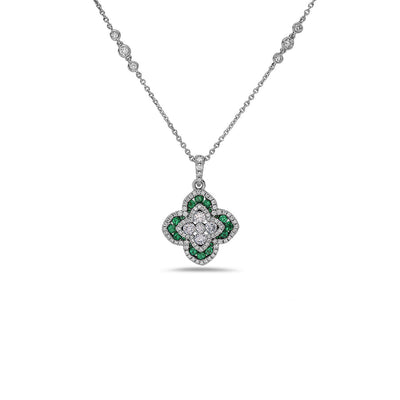 Quatrefoil Diamond Necklace