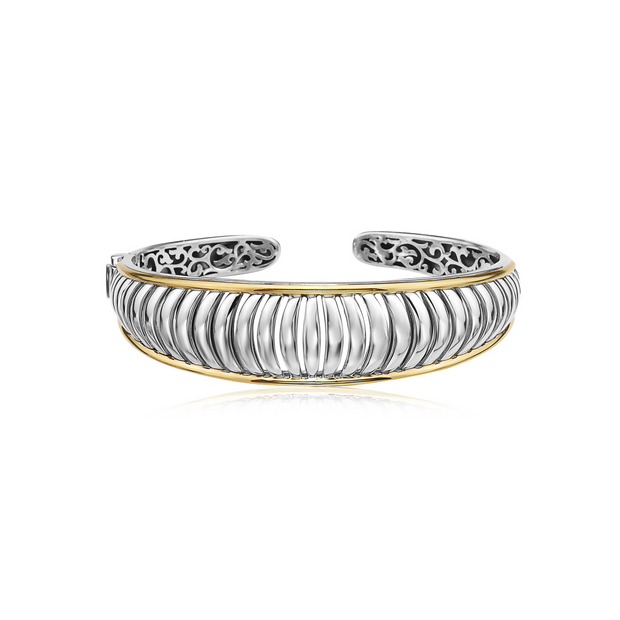 Silver and Gold Birdcage Cuff