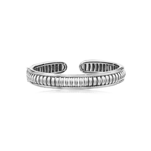 Silver Birdcage Stackable Cuff
