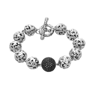 Silver Ivy Bead Medium Bracelet