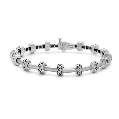 Silver Ivy Small Tube Bracelet