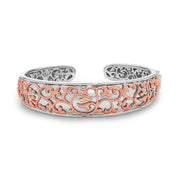 Silver Ivy Lace Saddle Cuff