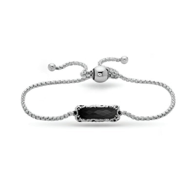 Silver Skye Gemstone Bar String Bracelet