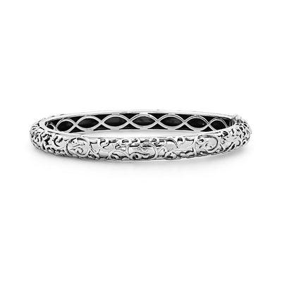 Silver Ivy Lace Bangle Bracelet