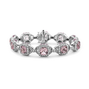 Pastel Diamond Regal Cushion Bracelet