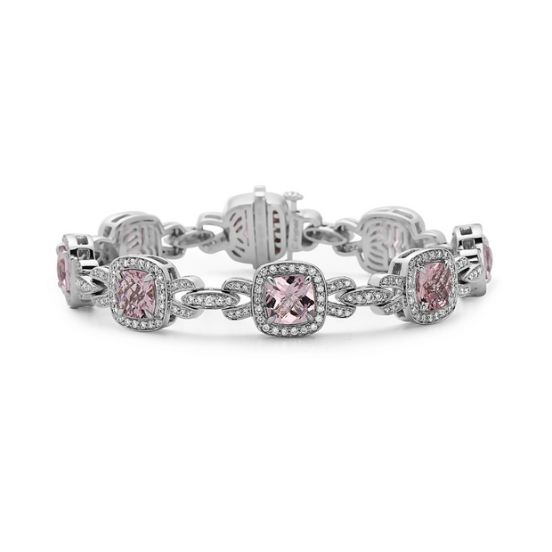 Pastel Diamond Bridle Cushion Bracelet