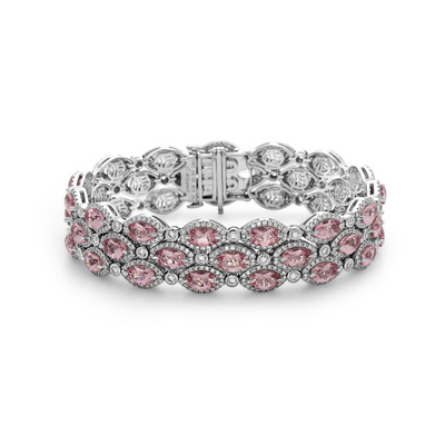 Pastel Diamond Firefly Triple Row Bracelet