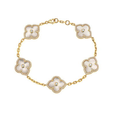 Gold and Diamond Precious Les Fleurs Bracelet