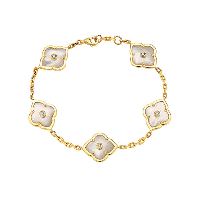 Gold and Diamond Les Fleurs Bracelet