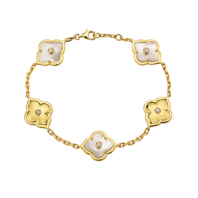 Gold Collection Les Fleurs Two-Tone Bracelet