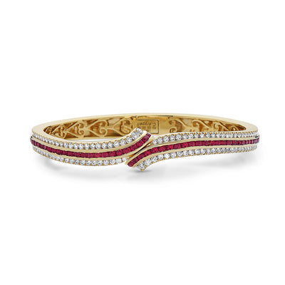Krypell Collection Ruby Bypass Bracelet