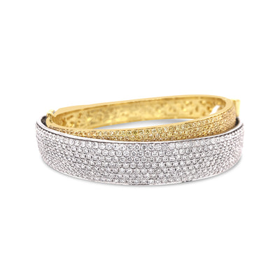 Diamond Layered Wide Bracelet