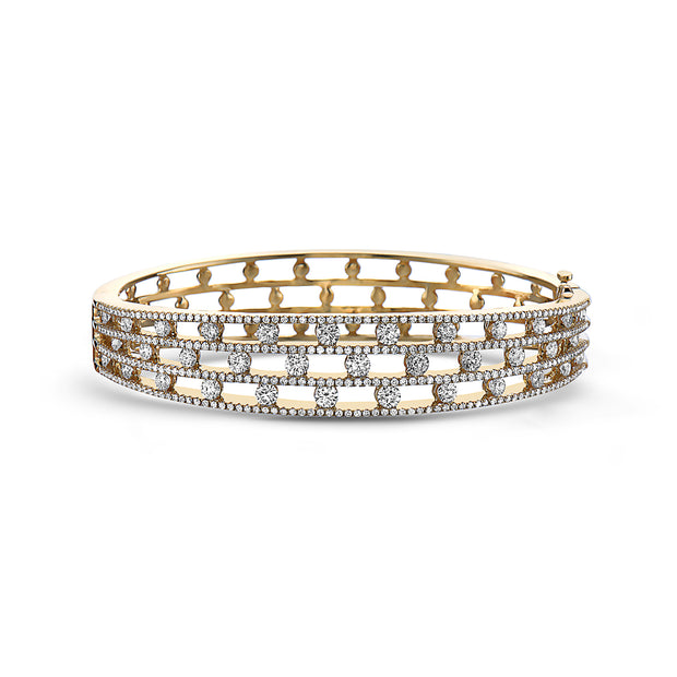Diamond Air Triple Row Bracelet