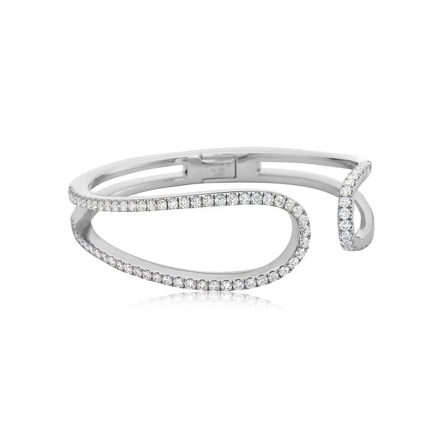 Diamond Open Swoop Bracelet