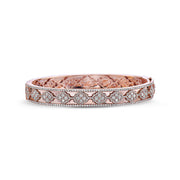 Diamond Faceted Lattice Bangle Bracelet