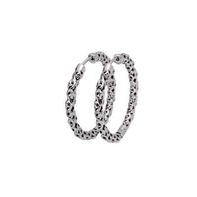 Silver Ivy Extra Thin Full Hoop Earring