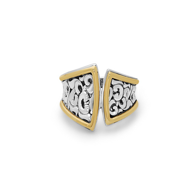 Silver Ivy Split Saddle Ring