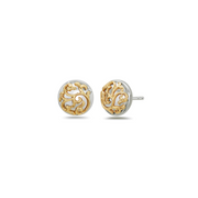 Silver Ivy Lace Station Earring