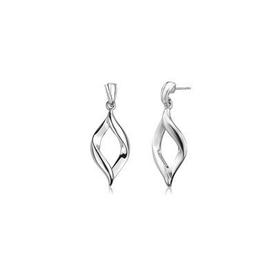 Silver Twist Dangle Earring