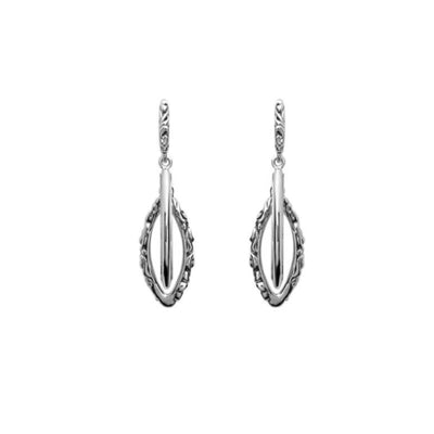 Silver Ivy Small Double Marquise Earring