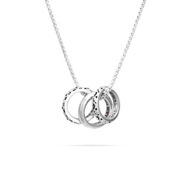 I Love You 365 Days A Year' Three Ring Love Necklace