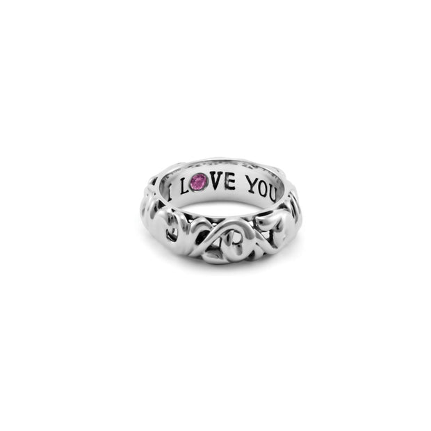 Silver Collection I Love You' Rings