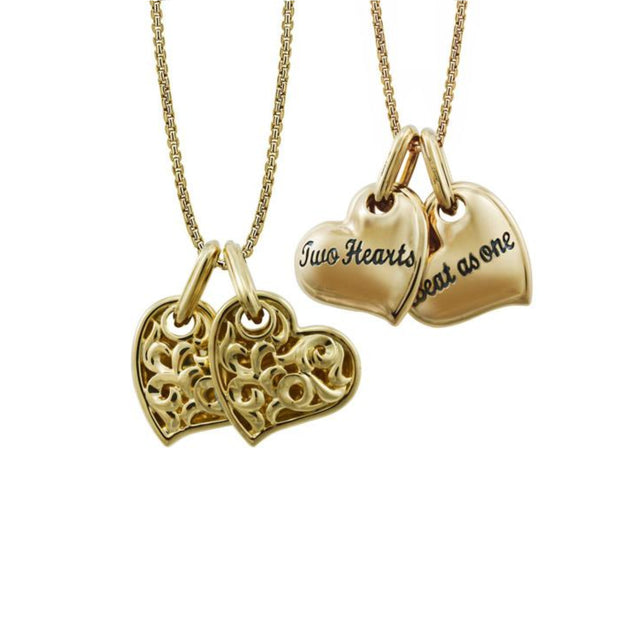 Two Hearts Beat As One' Necklace