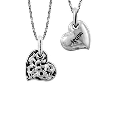 Silver Individual Personalized Love Hearts