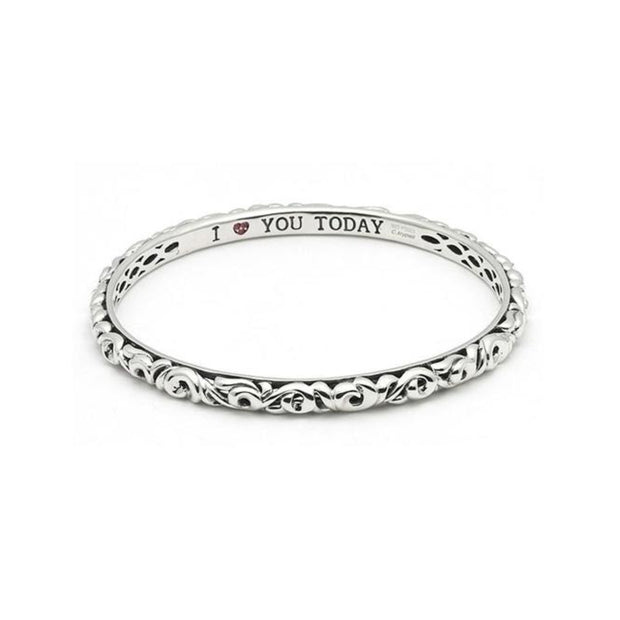 Silver I Love You Today..Tomorrow.. Forever...' Bangle Bracelets