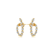 Diamond J-Hoop Classic Earring