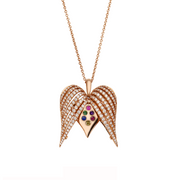 Angel Heart Large Diamond Pendant