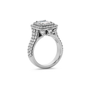 Precious Diamond Triple Banded Dazzling Radiant Ring