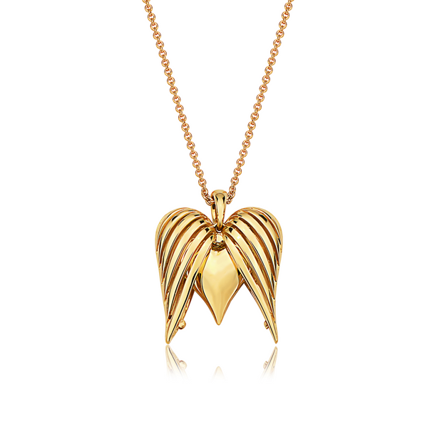 Angel Heart Large Gold Pendant