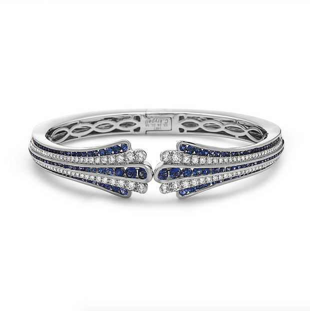 Diamond Flow Hidden Hinge Bracelet