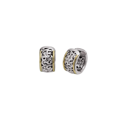 Silver Ivy Two Tone Petite Huggie Earring