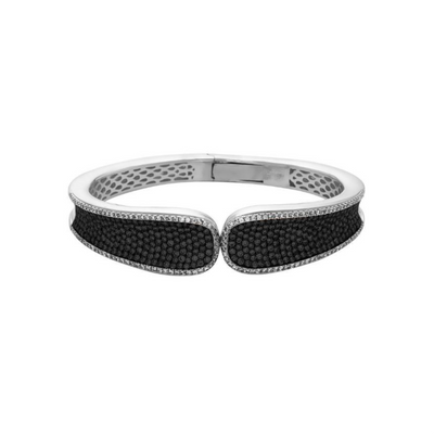 Silver Pave Saddle Cuff