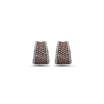 Silver Pave Saddle Earrings