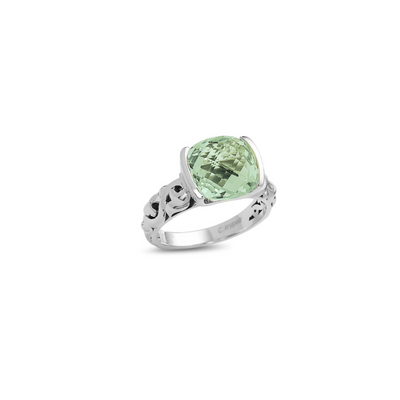 SILVER IVY TENSION SET GEMSTONE RING